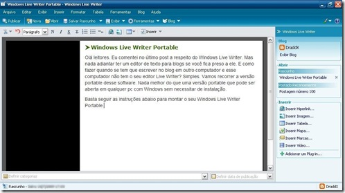 tela win live writer