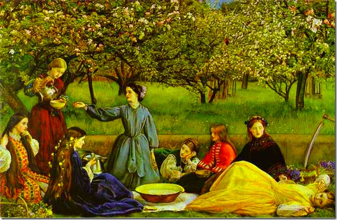 Sir John Everett Millais. Apple Blossoms