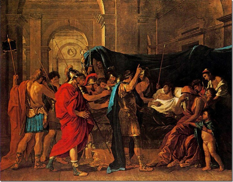 POUSSIN LA MUERTE DE GERMANICO 1629-30