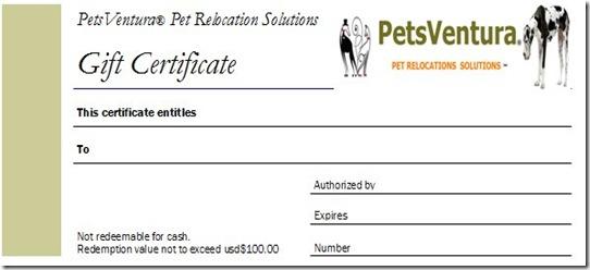 Gift Certificate_PetsVentura