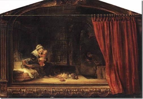 rembrandt - święta rodzina 1646