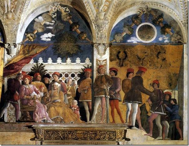 mantegna - dwór w mantui