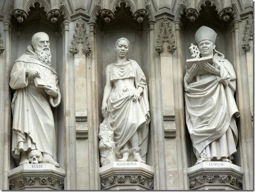 westminster - święci na fasadzie