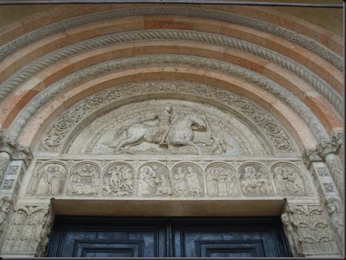 św. jerzy z portalu katedry w ferrarze