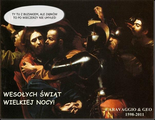 caravaggio - pojmanie 1598