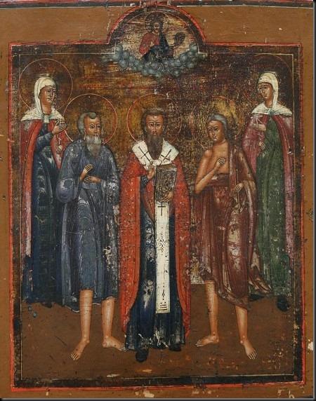 św. daria - ikona xix-wieczna