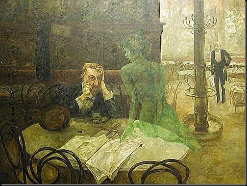 viktor oliva - pijący absynt 1901