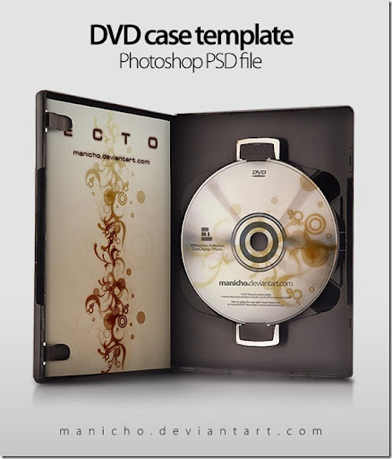 dvd cover template psd. DVD Case Template Mockup by