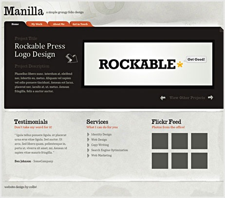 Create a Grungy Web Design with Paper Texture