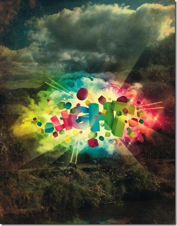 Make a 3D colour explosion
