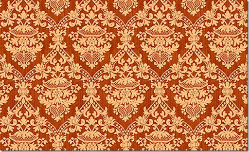 damask wallpaper. Orange Damask Wallpaper