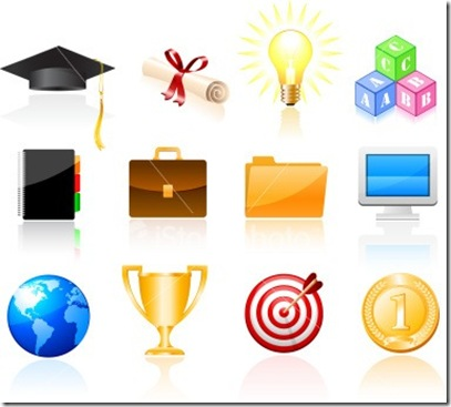 Beautiful Education Vector graphics icons_thumb[3]