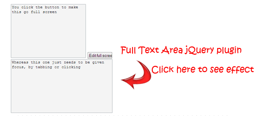 Full-Text-Area-jQuery-plugin