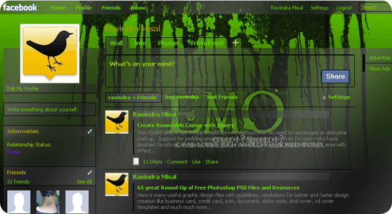 FaceBook - EMO skin Green Black