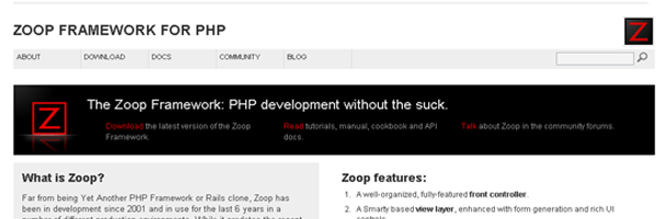Zoop-PHP-Framework