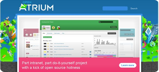 Open Atrium - Beautiful Drupal-Based Intranet cum do-it-yourself project