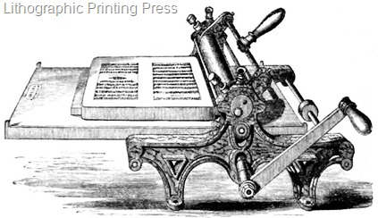 Lithographic press 1855