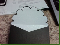 Wedding envelope inside