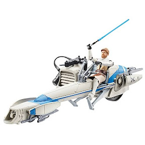 Star Wars Clone Wars Obi-Wan Kenobi with Speeder Bike