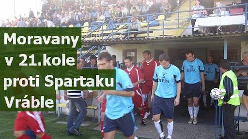Moravany v 21.kole proti Spartaku Vráble