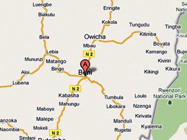 – Carte de Beni, Nord-Kivu (RDC)