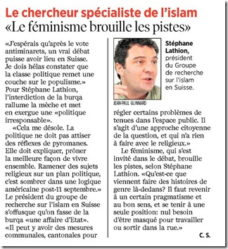 burqa opinion stéphane lathion