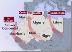 la route des migrants