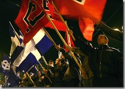 Greek Neo-nazis gather in central Athens 27 January 2007 (getty images)