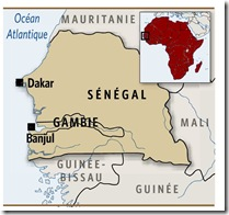 Sénégal carte