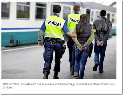 renvoi criminels étrangers disparité cantonale
