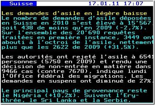 asile demandes 2010