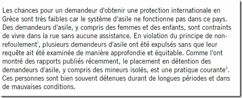 asile grèce situation amnesty extrait