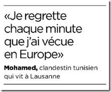 mohamed regrets europe