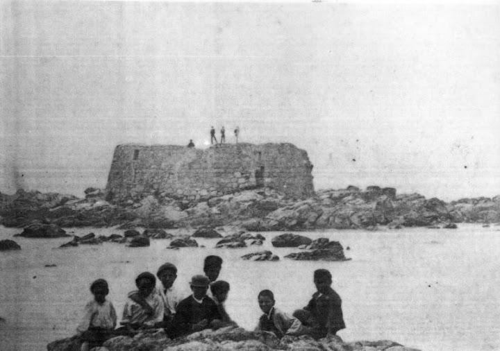 La Atalaya, símbolo guardés, a principios del 1900