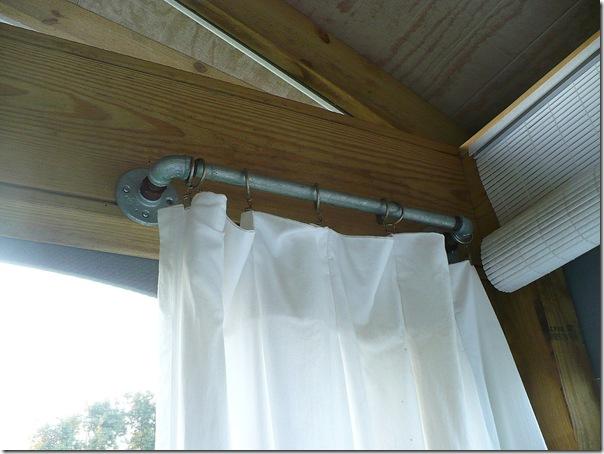 plumbing pipe curtain rod
