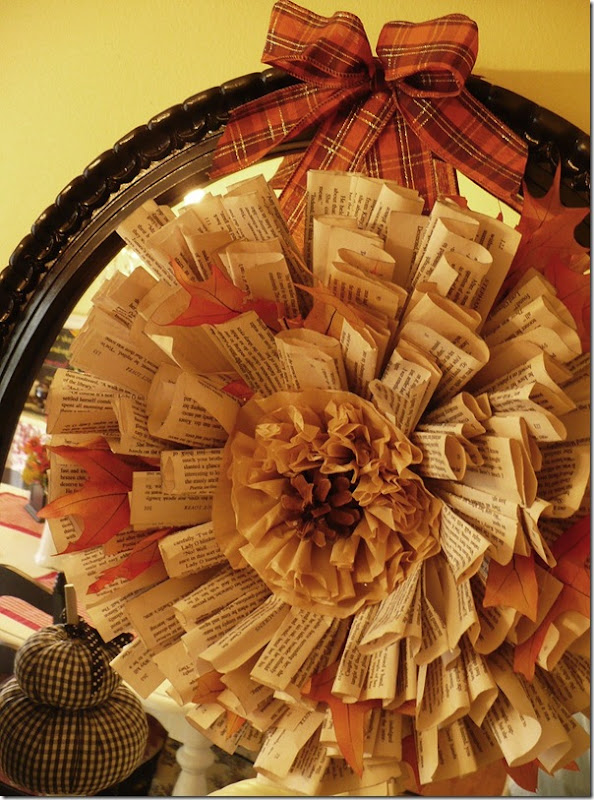 fal lbook page wreath