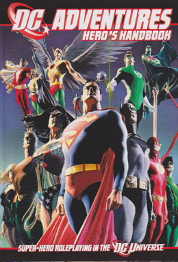 [The cover of the DC Adventures rules]