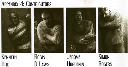 [Graphic: Image from 'Appendix D' which depicts the people named below in straitjackets.]