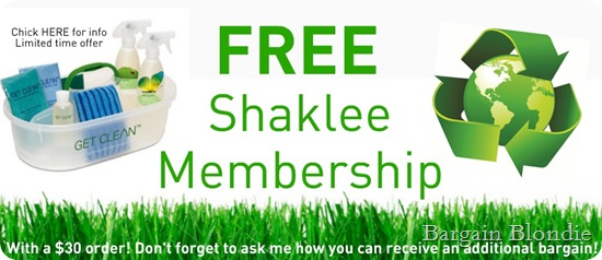 FREE shaklee membership