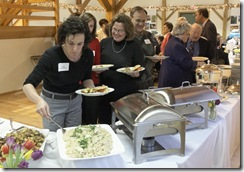 LLC supporters dish up some of A Knife's Work wonderful buffet dinner