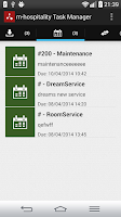 Screenshot of m-hospitality Task Manager