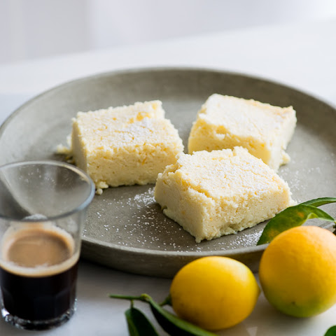 Meyer Lemon Magic Custard Cake