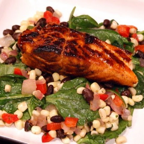 Smoky Spice Rubbed Grilled Salmon With Black Beans And Corn Recipes ...