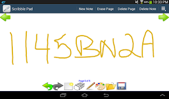 Screenshot of Scribble Pad