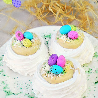 Caramel Meringue Easter Nests