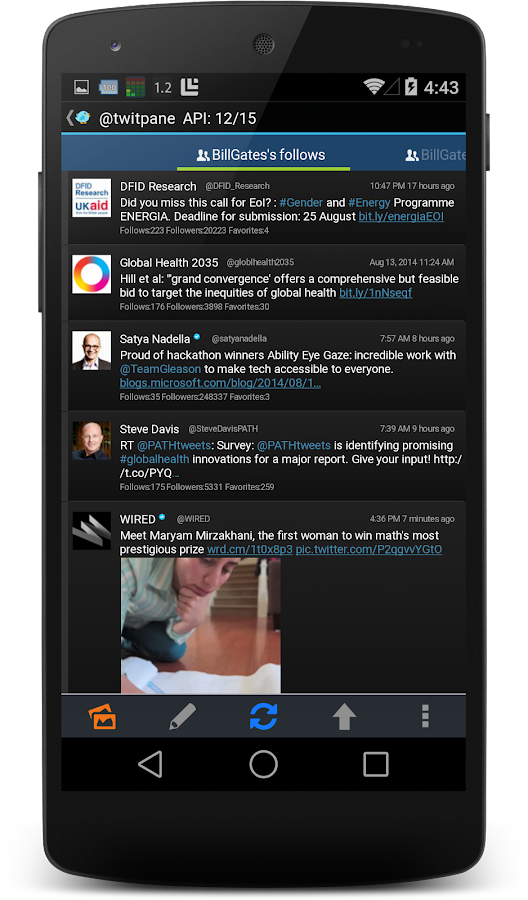TwitPanePlus for Twitter Screenshot 1