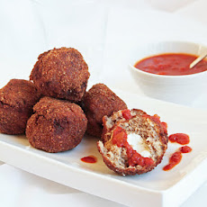 Crispy Fried Meatballs w/ Cream Cheese Filling