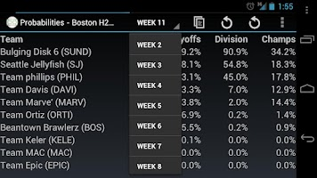 Screenshot of Fantasy Playoffs Predictor