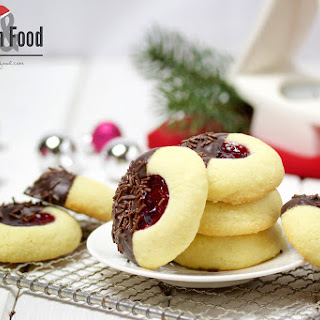 Berry and Chocolate Thumbprint Cookies