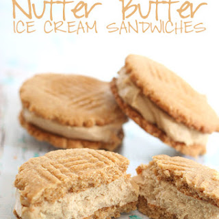 Nutter Butter Ice Cream Sandwiches